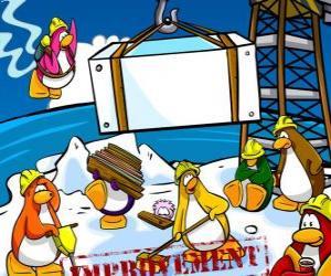 Rompicapo di Pinguini di lavoro in costruzione nel Club Penguin