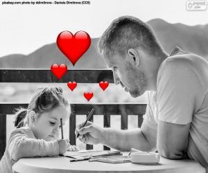 Rompicapo di Pittura con suo padre figlia