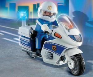 Rompicapo di Playmobil motocicletta di polizia