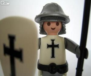 Rompicapo di Playmobil soldato medievale