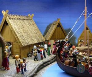 Rompicapo di Playmobil Viking villaggio