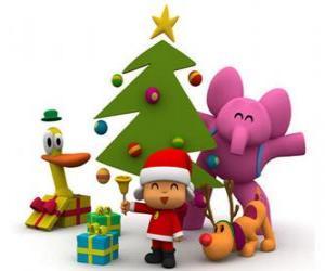 Rompicapo di Pocoyo ei suoi amici a Natale
