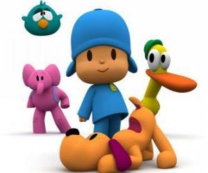 Rompicapo di Pocoyo ei suoi amici Pato, Elly, Loula e Ronfotto