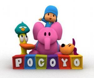 Rompicapo di Pocoyo migliori amici sono Pato, Elly, Loula e Ronfotto
