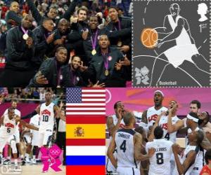 Rompicapo di Podio basket maschile Londra 12