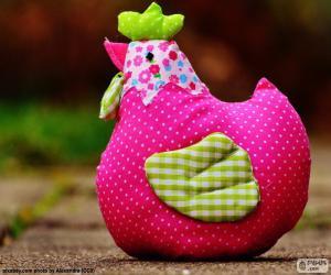 Rompicapo di Pollo di Pasqua colorato