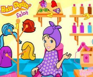 Rompicapo di Polly Pocket nel salone di bellezza