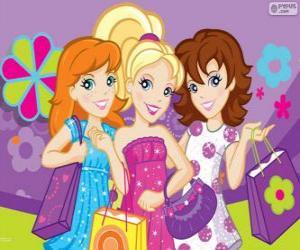 Rompicapo di Polly Pocket shopping con i suoi amici
