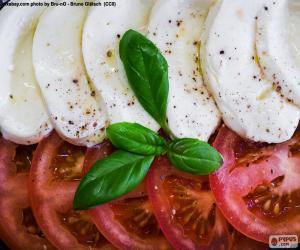 Rompicapo di Pomodoro e mozzarella