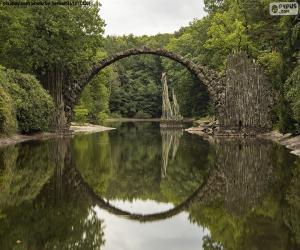 Rompicapo di Ponte del Diavolo di Rakotzbrucke, Germania