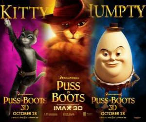 Rompicapo di Poster del film Il gatto con gli Stivali