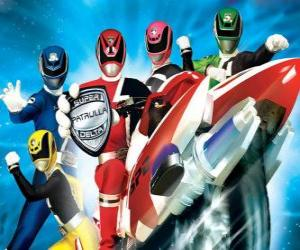 Rompicapo di Power Rangers SPD. Space Patrol Delta