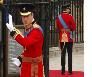 Rompicapo di Prince William, in uniforme di colonnello degli irlandesi Horse Guards