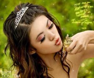 Rompicapo di Princess dando un bacio ad una rana