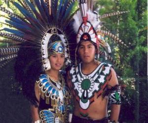 Rompicapo di Principe e principessa Azteca