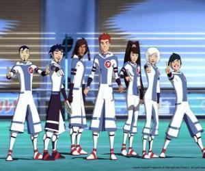 Rompicapo di Protagonisti delle avventure di Galactic Football, alcuni giocatori della squadra Snow Kids dil pianeta Akillian