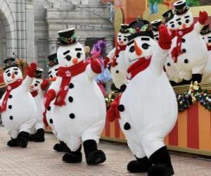 Rompicapo di Pupazzi di neve danza