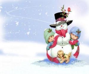 Rompicapo di Pupazzo di neve con i suoi amici