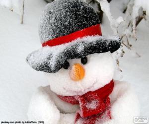 Rompicapo di Pupazzo di neve con sciarpa