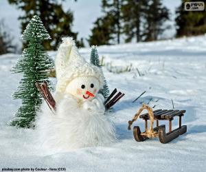 Rompicapo di Pupazzo di neve e la slitta