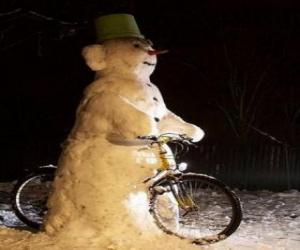 Rompicapo di Pupazzo di neve in bicicletta