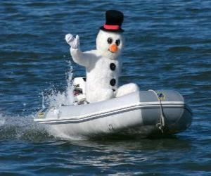 Rompicapo di Pupazzo di neve in una barca