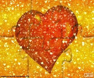 Rompicapo di Puzzle rosso del cuore