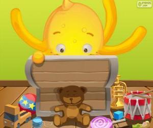 Rompicapo di Pypus e la sua scatola di giocattoli