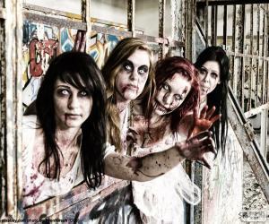 Rompicapo di Quattro zombie Halloween