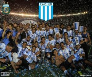Rompicapo di Racing Club de Avellaneda, campione del Torneo de Transición 2014 in Argentina