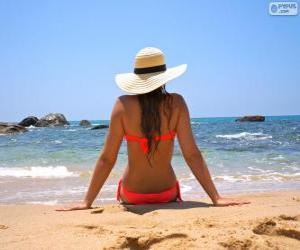 Rompicapo di Ragazza sulla spiaggia