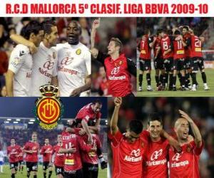 Rompicapo di RCD Mallorca quinto classificato BBVA League 2009-2010