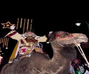 Rompicapo di Re Melchior in sella alla sua cammello