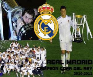 Rompicapo di Real Madrid campione Copa del Rey 2010-2011