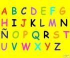 Alfabeto con lettere maiuscole