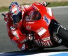 Casey Stoner pilota il moto GP