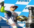 Valentino Rossi nel pódium
