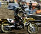 Motocross moto con pilota