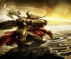 Minotauro - Mostro gigante con corpo umano e la testa del toro come un guerriero armato