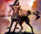 Centauro armati - Essere con il corpo e la testa umano e il corpo del cavallo