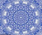 Mandala del fiore blu