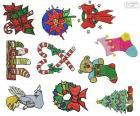 Disegni di ornamenti di Natale
