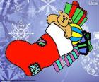 Calzino di Natale con regali