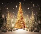 Albero di Natale in oro