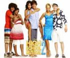Chad (Corbin Bleu), Taylor (Monique Coleman), Gabriella Montez (Vanessa Hudgens), Troy Bolton (Zac Efron), Sharpay Evans (Ashley Tisdale), Ryan Evans (Lucas Grabeel), tre coppie di High School Musical 2
