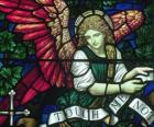 Vetrata con un angelo