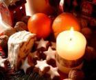 Candela accesa di Natale