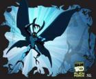 Big Chill o Gelone, come una falena alienígena com forza sovrumana, con le ali e le antenne che possono diventare invisibili