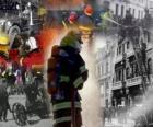 Varie foto di vigili del fuoco