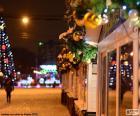 Natale decorato Street